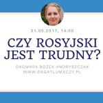 """""""Czy rosyjski jest trudny?"""" - webinarium"""