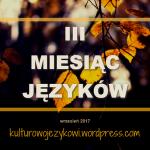 III Miesiąc Języków - zapowiedź akcji