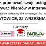 Warsztaty w Katowicach 22 września