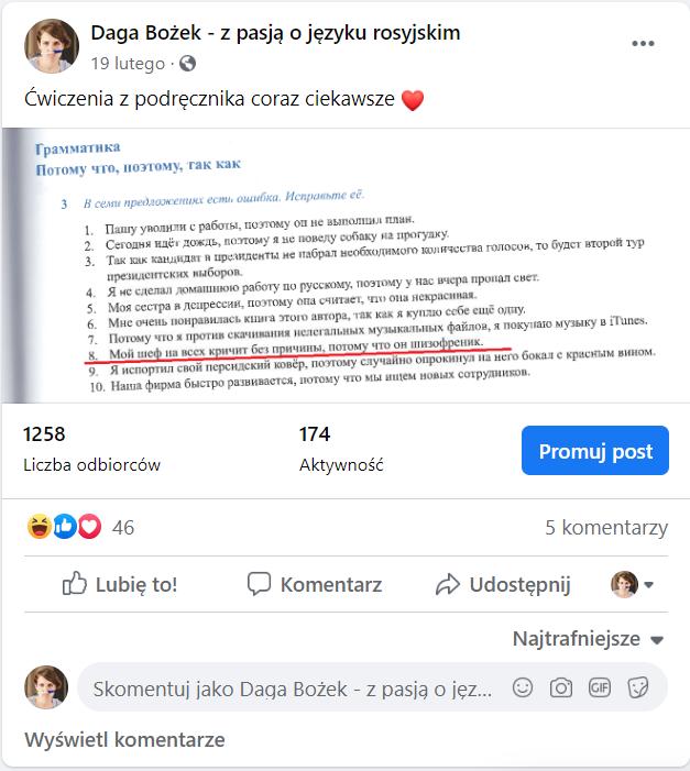 Podręcznik do rosyjskiego Iz pierwych ust - przykłady